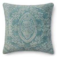 Loloi Dr. Gandhis Chenille 22-Inch Square Throw Pillow in Glacier Blue
