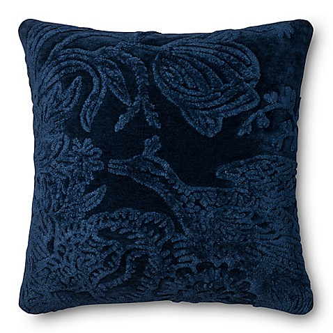 image of Loloi Rich Viscose Square Throw Pillow in Indigo