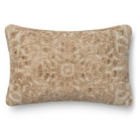 Loloi Rugs Rich Viscose Oblong Throw Pillow in Cream
