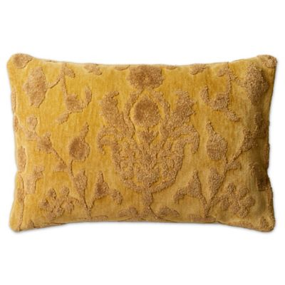 Loloi Rich Viscose Oblong Throw Pillow In Citron