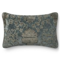 Loloi Rich Viscose Oblong Throw Pillow in Grey/Blue