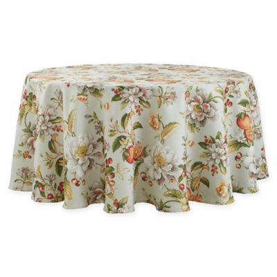 Basics Citrus Floral 70 Inch Round Tablecloth