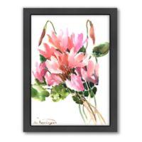 Americanflat Suren Nersisyan Pink Flowers Wall Art