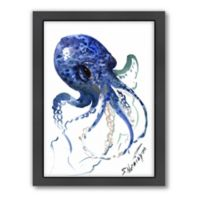 Americanflat Suren Nersisyan Designs Octopus Matte Print in Blue with Frame
