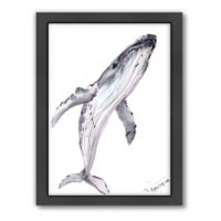 Americanflat Suren Nersisyan Designs Humpback Whale Matte Print with Frame