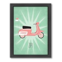 Americanflat Jilly Jack Designs Vintage Scooter 2 Wall Art
