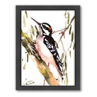 Woodpecker On Tree Wall Art
