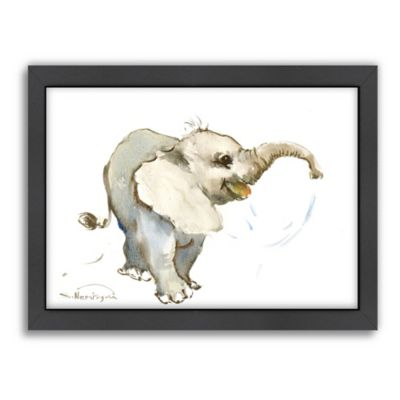 americanflat suren nersisyan baby elephant framed wall art - Elephant Picture Frame