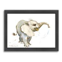 Americanflat Suren Nersisyan Baby Elephant Framed Wall Art
