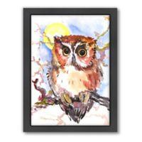 Americanflat Suren Nersisyan Red Baby Owl Framed Wall Art