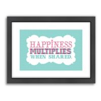 Americanflat Jilly Jack Designs Typography Happiness Wall Art