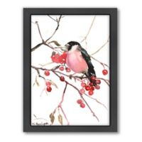 Americanflat Azure Bullfinch Wood-Framed Wall Art
