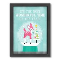 Americanflat Jill Broadhacker Most Wonderful Time Matte Print with Frame