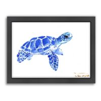 Americanflat Suren Nersisyan Designs Tortoise 2 Matte Print in Blue with Frame