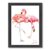 Americanflat Suren Nersisyan Designs Flamingos Matte Print with Frame