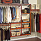 John Louis Home Red Mahogany Standard Closet Organizer