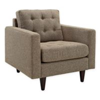 Modway Empress Upholstered Fabric Armchair in Oatmeal