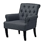 Baxton Studio Barret Upholstered Club Chair in Grey