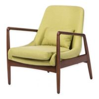 Baxton Studio Carter Upholstered Lounge Chair in Green
