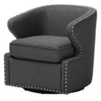 Baxton Studio Finley Swivel Chair in Grey