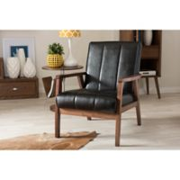 Baxton Studio Nikko Wooden Lounge Chair in Black