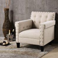 Baxton Studio Odella Arm Chair in Beige