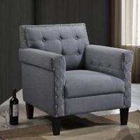 Baxton Studio Odella Arm Chair in Grey