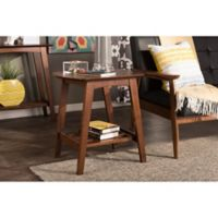 Baxton Studio Sacramento End Table in Dark Walnut
