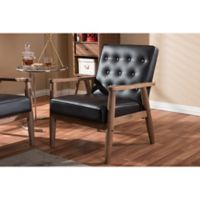 Baxton Studio Sorrento Wooden Lounge Chair in Brown