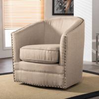 Baxton Studio Porter Swivel Tub Chair