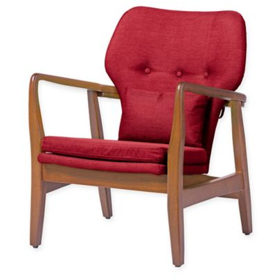 baxton studio rundell accent chair in red