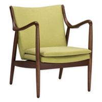 Baxton Studio Shakespeare Accent Chair in Green