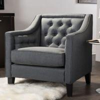 Baxton Studio Vienna Arm Chair in Grey