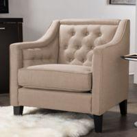 Baxton Studio Vienna Arm Chair in Beige