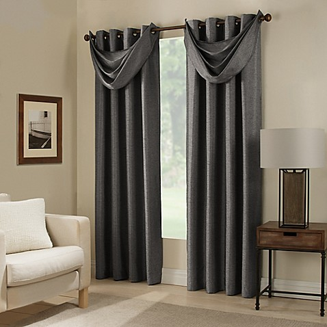 bed bath and beyond curtains for living room paradise room darkening grommet top window curtain panel 28130