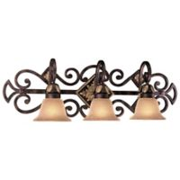 Metropolitan® Lighting Zaragoza™ Collection 3-Light Bath Wall Mount Light in Golden Bronze