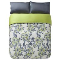 Kensie Etta King Duvet Cover Set in Grey/Green