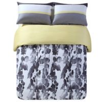 Kensie Kara King Duvet Cover Set in Grey/Black