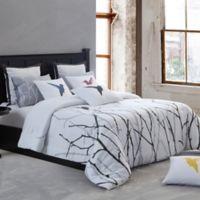 Kensie Vicki Full Comforter in Silver/Black