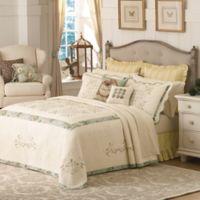 Mary Jane's Home Vintage Treasure King Bedspread in Teal