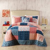 Jessica Simpson Grace Twin Quilt in Blue