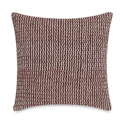 kenneth cole new york escape square throw pillow in plum