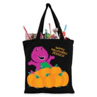 Barney Pumpkin Patch Trick-Or-Treat Bag in Black