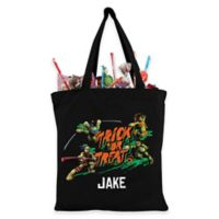 Personalized Teenage Mutant Ninja Turtles Trick-Or-Treat Bag in Black