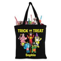 Personalized Yo Gabba Gabba Trick-Or-Treat Bag in Black