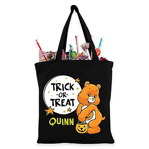 Personalized Care Bears Trick Or Treat Bag In Black