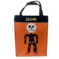 Scary Skeleton Trick-Or-Treat Bag in Orange