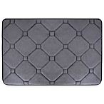 Tranquility 21-Inch x 34-Inch Diamond Memory Foam Bath Rug in Dark Grey