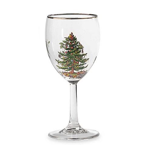 Spode 174 Christmas Tree Wine Glasses Set Of 4 Bed Bath