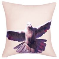 Kensie Blossom Bird Square Throw Pillow in Yellow